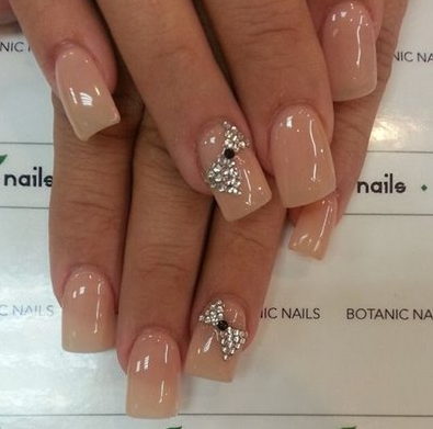 Top 25 wedding nail art designs to make your big day special folder gel nails are extremely popular presently so you can go for a gel nail paint in a bare shade that matches your skin tone and you can influence the nail to prinsesfo Choice Image