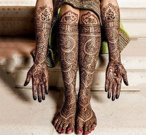 Stunning Bridal Henna Designs By Ash: Top 35 Fabulous Bridal Mehndi Designs