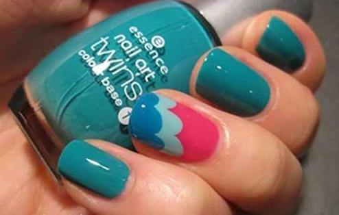 Colorful Clouds Nail Art Folder