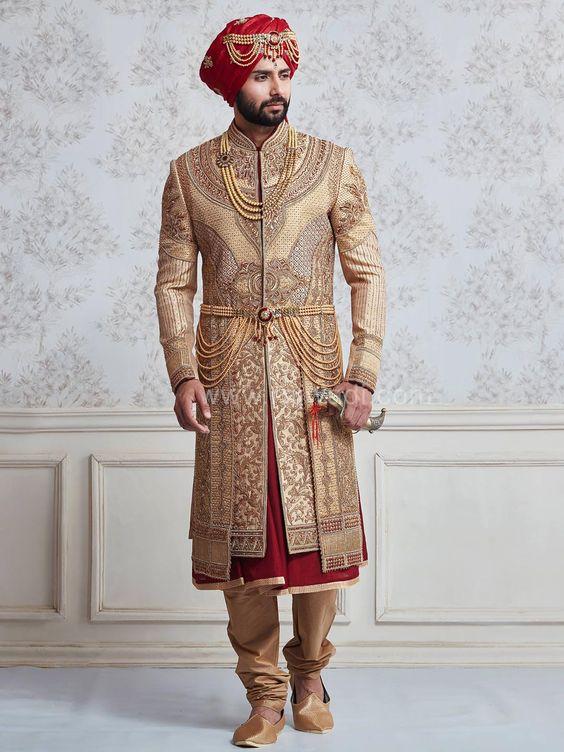 Latest Sherwani Designs 2017: 25 Amazing Wedding Sherwani Designs for Men - Folderrh:folder.pk,Design