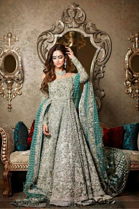 811bee7cd1 We all want our dresses to have the most subtle and light colors on our  walima day but adding a little bit of some other color won't kill anyone,  trust me!