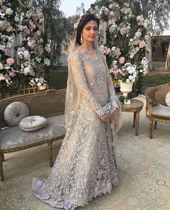 8332f09222a52 Now, here is a dress that is perfect for your walima day for the daytime  events or even if its a night time event. The beautiful gown will make you  look ...