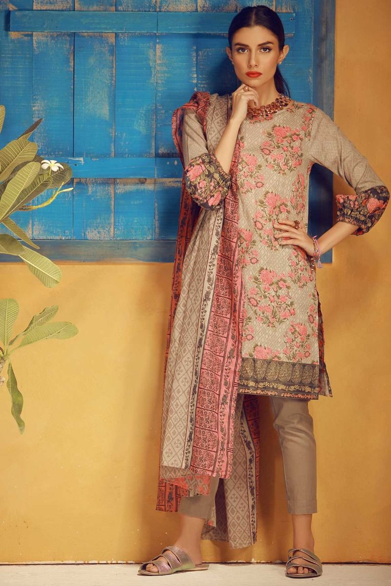 a80b9670df This is one pretty lawn suit from their new summer collection which has the  most beautiful and mild colors. These colors will look perfect on anyone ...
