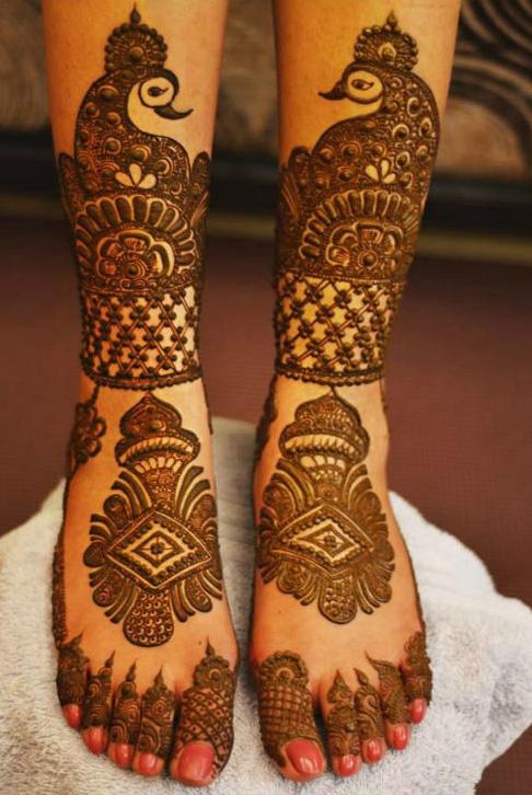 Mehndi Design For Right Leg : Full leg mehndi design folder