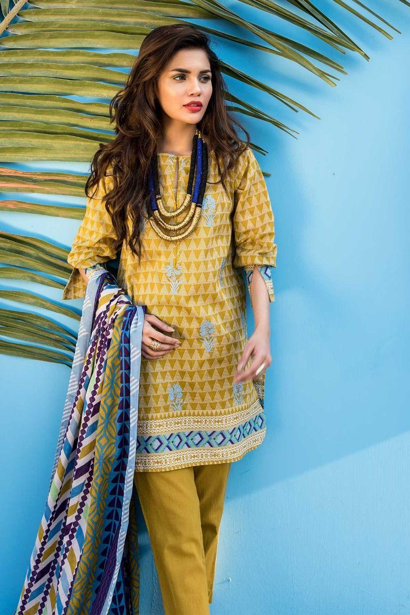 22e6fe2e55 20 Beautiful Khaadi Lawn Designs Summer 2018 - Folder