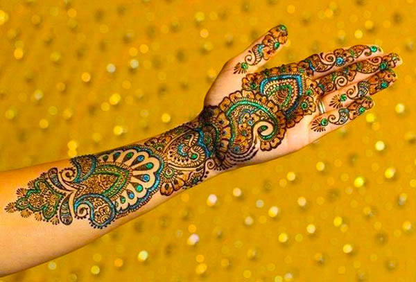 Colorful Henna Designs: Colored Mehndi