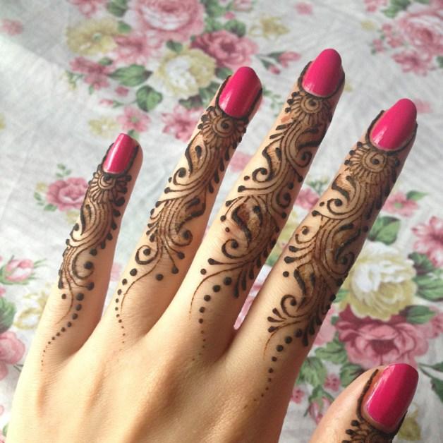 Easy Full Fingers Mehndi Design