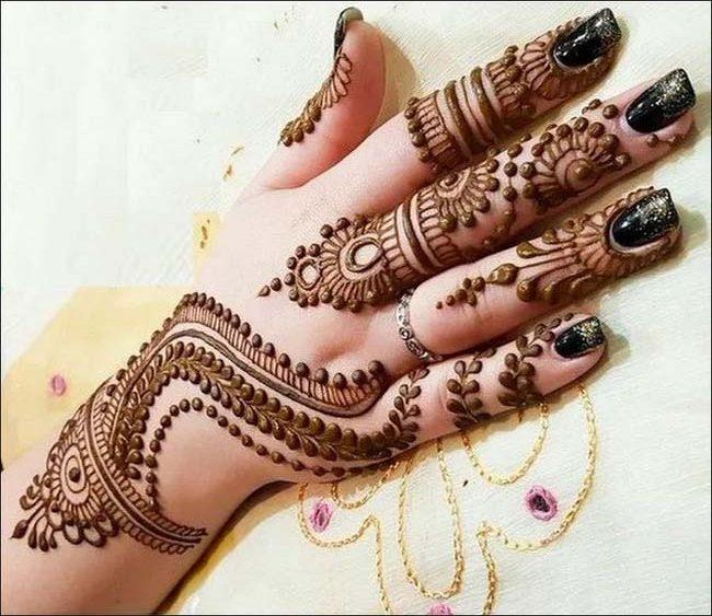 d1909fb75a 20 Best Eid Henna Designs For Hands 2018 - Folder
