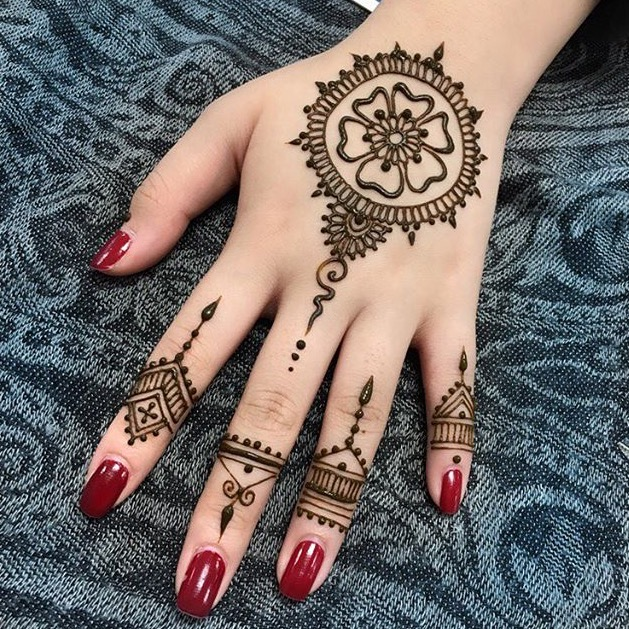 20 Beautful Henna Designs For Nikah: 20 Latest Indian Style Mehndi Designs 2018