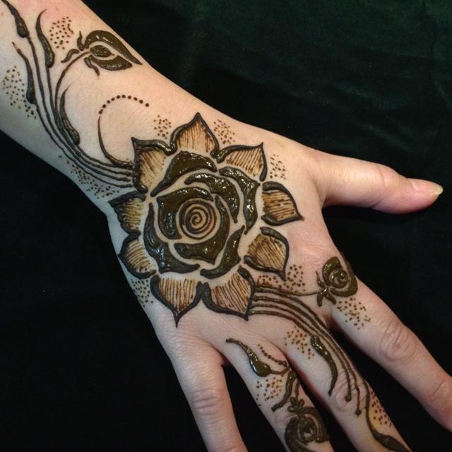 Rose Flower Mehndi Design Video Flowers Healthy