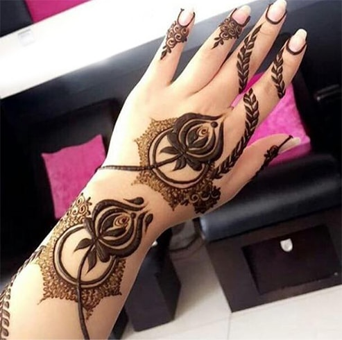 20 Beautiful Rose Style Mehndi Designs 2018 Folder