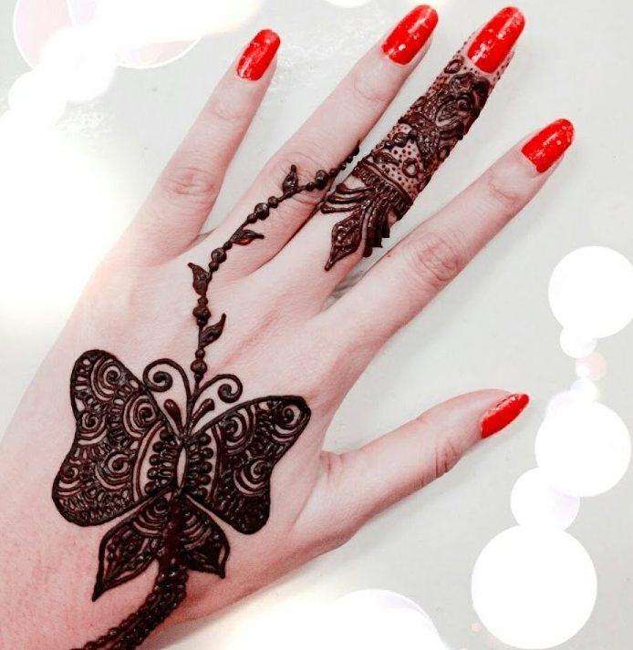 20 Stunning Butterfly Mehndi Designs 2018 Folder