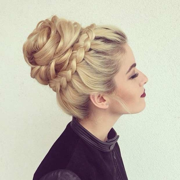 Donut Bun With Braids Folder